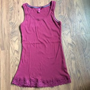 So brand burgundy tank top size medium